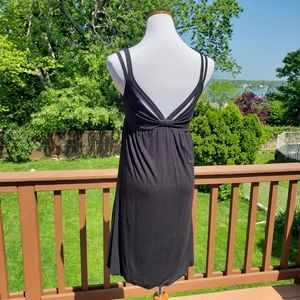 DESIGN HISTORY Strappy Black Dress Sz S